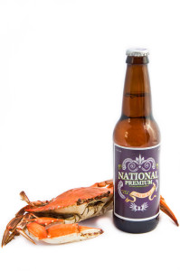 National Premium Bottle and Crab